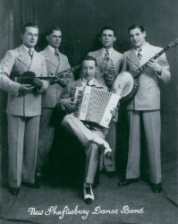 Cyril holding violin 1920's Shaftesbury Dance Band