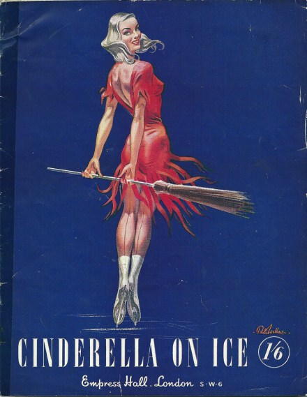 Programme for 'Cinderella on Ice' at the Empress Hall, London 1050's