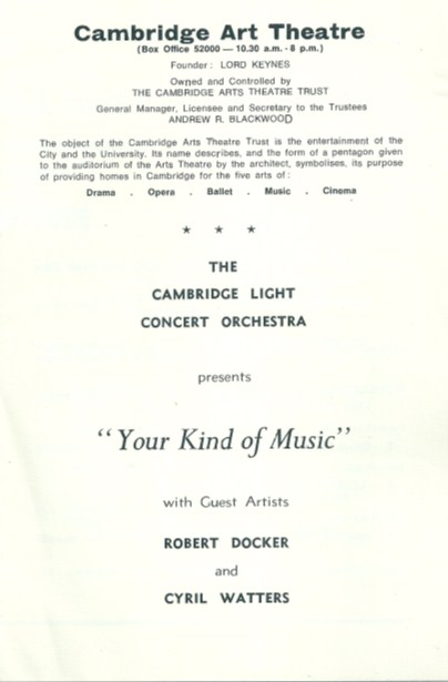 Cambridge Art Theatre Programme